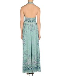 Etro Green Long Dress