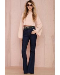 Nasty Gal | Natural Annalisa Crop Sweater | Lyst