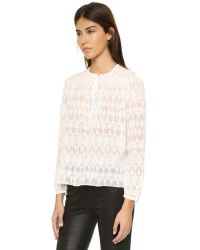 Rebecca Taylor - White Ice Cap Top - Lyst