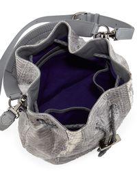 Khirma Eliazov - Gray Erdem Watersnake Mini Bucket Bag - Lyst