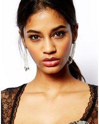 Lipsy Metallic Baguette Shoulder Duster Earrings