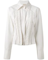 Antonio Marras | White Front Frilly Panels Shirt | Lyst