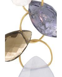 Melissa Joy Manning   White 14-Karat Gold Multi-Stone Earrings   Lyst