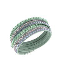 Swarovski | Green Slake Crystal Mint Wrap Bracelet | Lyst