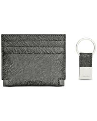 Calvin Klein - Black Card Case & Key Fob Set for Men - Lyst