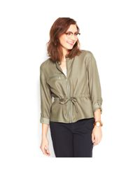 Maison Jules - Green Drawstring Jacket - Lyst