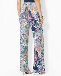 Ralph Lauren   Blue Petite Paisley Print Pants   Lyst