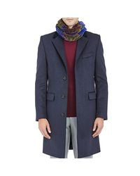 Barneys New York - Purple Large-checked Chenille Scarf for Men - Lyst