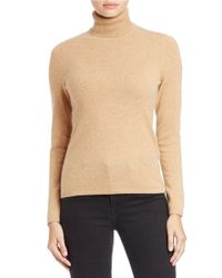 Lord & Taylor Natural Cashmere Turtleneck Sweater