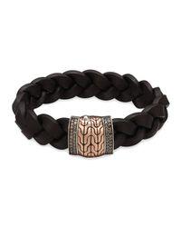 John Hardy | Black Men's Classic Chain Silver/bronze Station Bracelet for Men | Lyst
