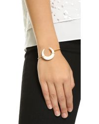 Jacquie Aiche - Metallic Bone Cuff Bracelet - Gold/gold - Lyst