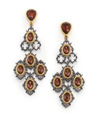 Alexis Bittar | Metallic Elements Muse D'Ore Pyrite Doublet Lace Chandelier Earrings | Lyst