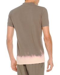 Tomas Maier - Brown Bleached-Bottom Polo for Men - Lyst