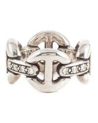 Hoorsenbuhs Metallic 'quad-link' Ring