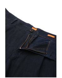 BOSS Orange | Blue Regular-fit Shorts In Linen: 'stimo2-shorts-d' for Men | Lyst