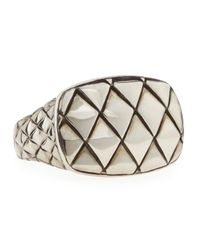 John Hardy - Metallic Naga Silver Rectangular Mens Ring - Lyst