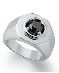 Macy's - Men's Black Diamond Ring In Sterling Silver (2 Ct. T.w.) for Men - Lyst