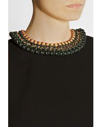 Proenza Schouler - Black Ladder Gold-Plated Necklace - Lyst