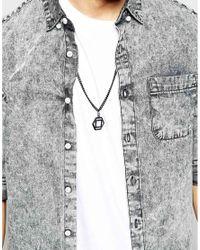 ASOS - Black Geometric Hexagon Necklace for Men - Lyst