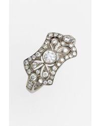 Kwiat | Metallic 'Vintage - Bow Tie' Diamond Ring | Lyst