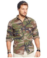 Denim & Supply Ralph Lauren | Green Camo Military Shirt for Men | Lyst
