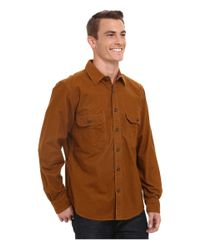 Woolrich Gray Expedition Chamois Shirt for men