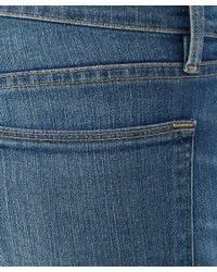 FRAME Blue Le High Skinny Paloma High-Rise Rip Jeans