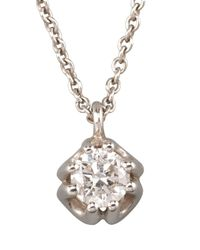 Roberto Coin - White Diamond Pendant Necklace - Lyst