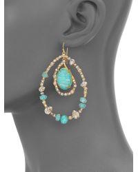 Alexis Bittar - Green Elements Moonlight Amazonite & Crystal Doublet Teardrop Earrings - Lyst