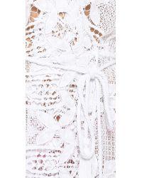 Miguelina - Lupita Wrap Dress - Pure White - Lyst