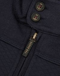 Ted Baker Blue Quilted Funnel Neck Jacket for men