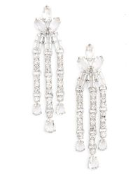 kate spade new york - Metallic 'drama' Chandelier Earrings - Clear - Lyst