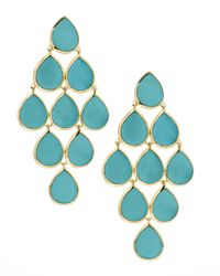 Ippolita | Metallic Turquoise Cascade Earrings | Lyst
