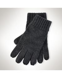 Polo Ralph Lauren Gray Merino Wool Glove for men
