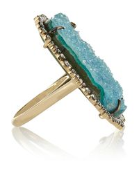 Kimberly Mcdonald | Blue 18-Karat Gold, Diamond And Chrysocolla Druze Ring | Lyst