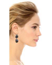 Sam Edelman | Blue Pave Stone Double Drop Earrings | Lyst