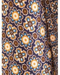 Kiton - Brown Floral Print Pocket Scarf for Men - Lyst