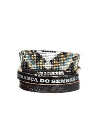 Hipanema | Black Iguana Friendship Bracelet | Lyst