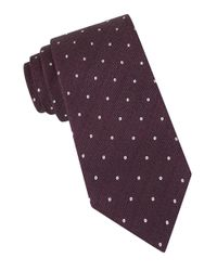 John Varvatos | Purple Dot-print Tie for Men | Lyst