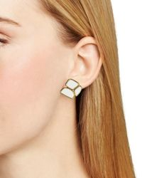 kate spade new york - White Play To The Gallery Stud Earrings - Lyst