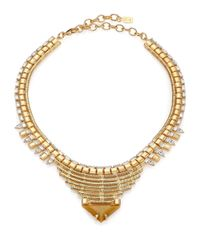 DANNIJO | Metallic Ezra Crystal Collar Necklace | Lyst
