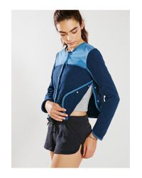 Without Walls - Blue Quilted Snap-Front Jacket - Lyst