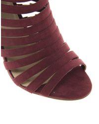 ASOS - Purple Twister Sandal Boots - Lyst