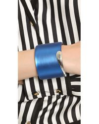 Alexis Bittar - Blue Liquid Metal Edge Cuff Bracelet - Hot Pink - Lyst