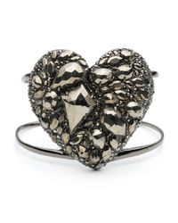 Alexis Bittar | Metallic Pyrite Pave Heart Cuff | Lyst