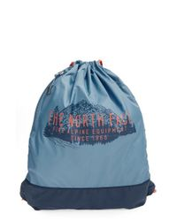 The North Face | Blue 'sack Pack' Drawstring Bag for Men | Lyst