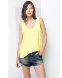 Mango Blue Vintage Denim Shorts