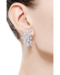 Fallon | Metallic Crystal Cluster Earrings | Lyst