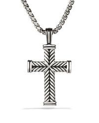 David Yurman Metallic Chevron Cross On Chain 26 for men