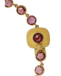 Munnu - Red 22-Karat Gold Spinel Bracelet - Lyst